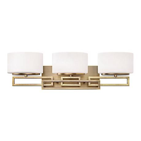 Hinkley Lanza Bronze 25 Wide Bathroom Wall Light