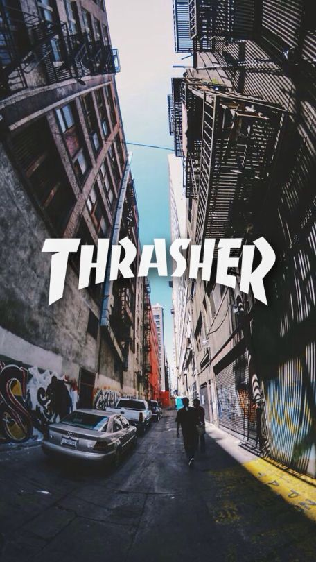 thrasher skateboard fond d 39 cran pinterest fond ecran cran et arri re plans iphone. Black Bedroom Furniture Sets. Home Design Ideas