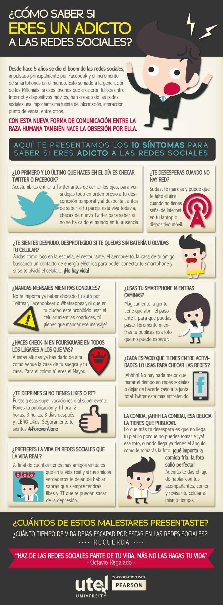 ¿Eres adicto a las Redes Sociales? | Infographic
