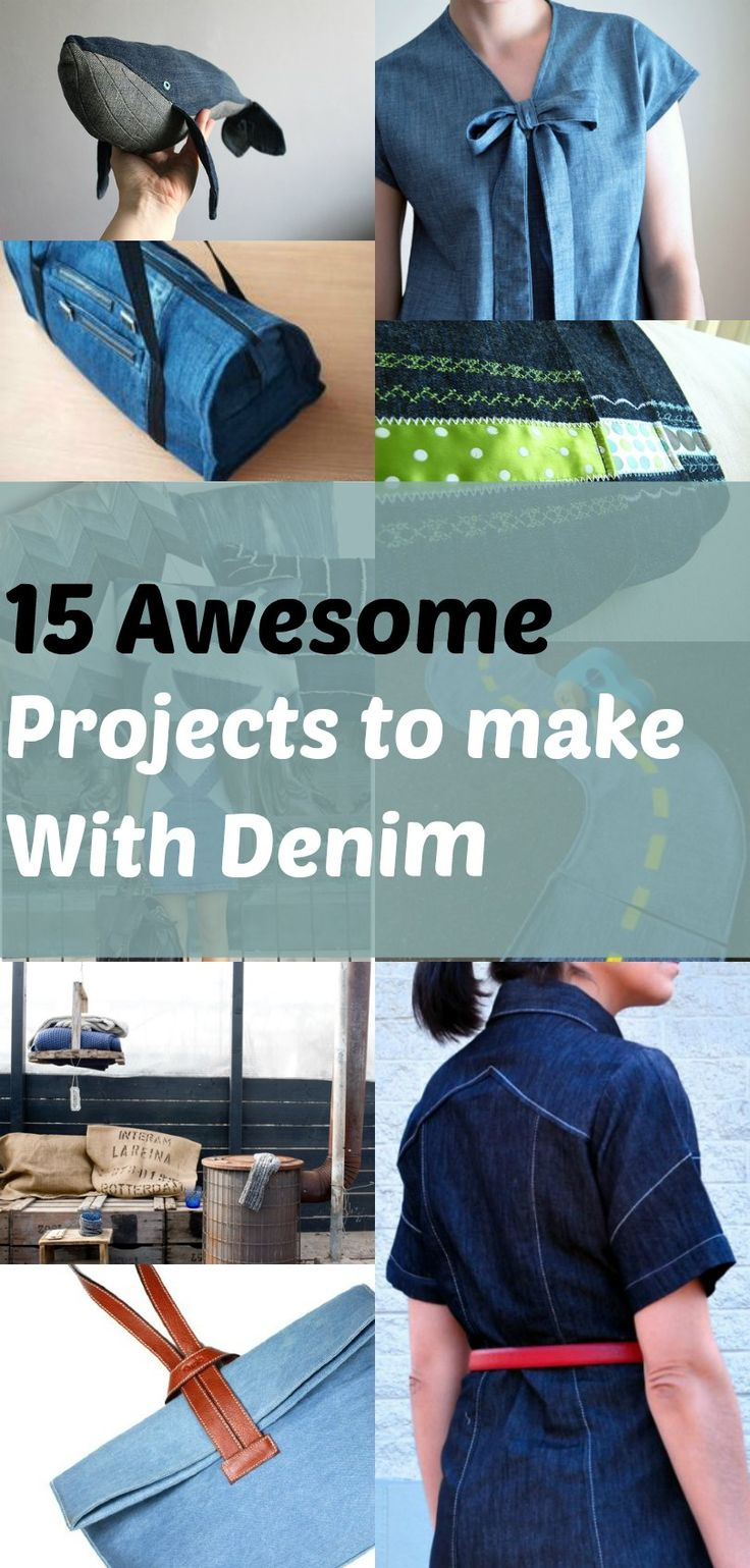 Refashion: 15 Creative Denim DIY Projects: Get access to this trendy denim DIY ideas. Great for all weekend projects. On the Cutting Floor