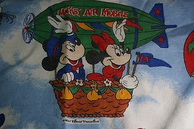 Disney Mickey Dumbo Pluto Goofy Bed Blanket Chatham Bedroom Twin Air Mobile vtg
