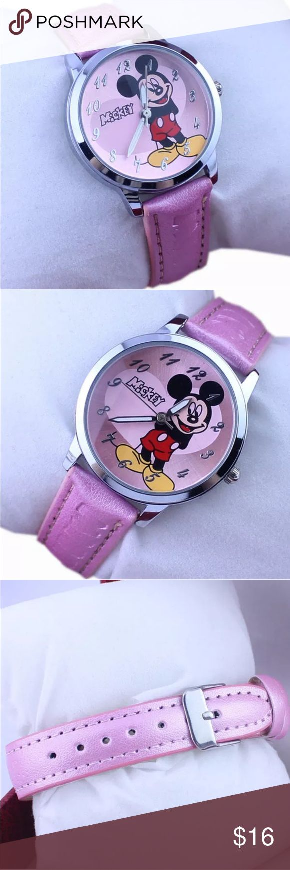 New Mickey Mouse watch Cute Mickey Mouse watch with purple band Accessories Watches