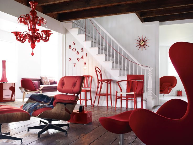 DWR Photoshoot Of Red Chairs