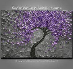 Original Impasto Style Painting By: Nicholas Valentino Medium: Professional Grade Acrylics on Gallery-Wrapped 100% Cotton Canvas All Paintings are Stretched over Heavy-duty Wooden Stretcher Bars (staples are on back - not on sides) Dimensions: 24 x 36 x 1.5 Deep Profile Canvas Dominant Colors: Shades of Purple - Grey - Black Condition: New - Excellent! Professionally Stretched - Wired & Ready to Hang! © 2017 Nicholas Valentino - All Rights Reserved Thanks for visiting my shop! ...