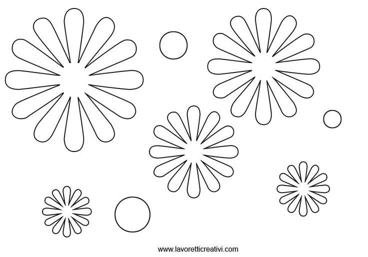 Шаблоны ромашки из фоамирана распечатать
