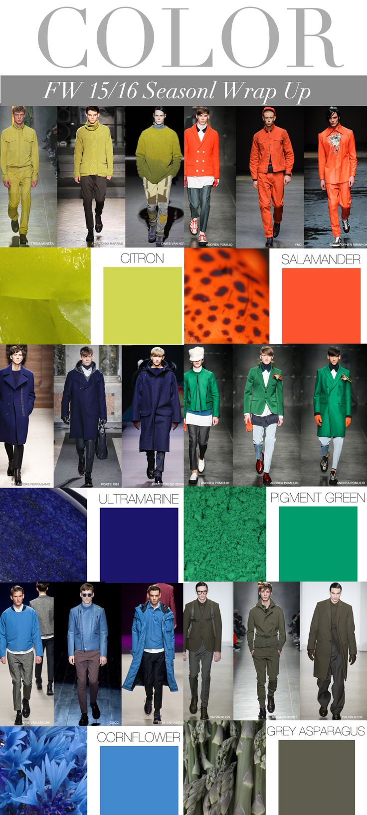 TREND COUNCIL FW 2015- MEN'S SEASONAL COLORS