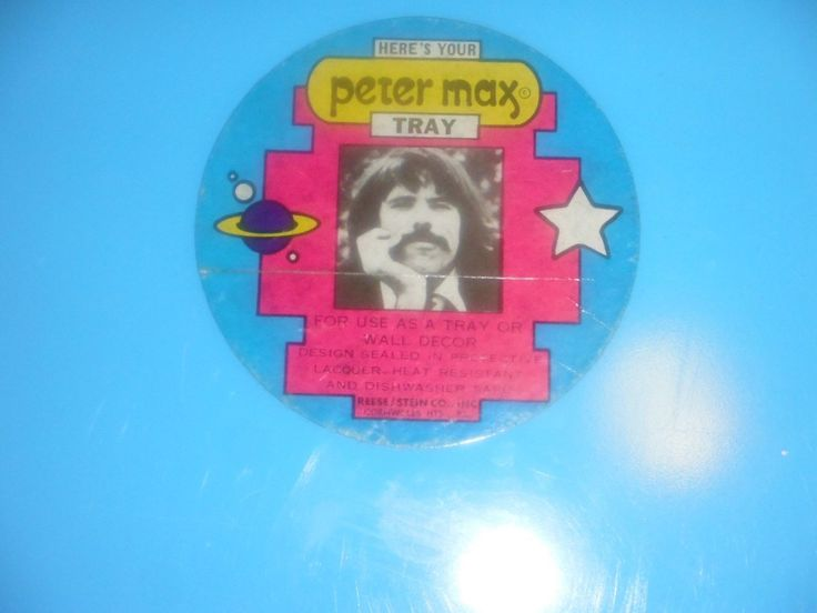 Peter Max Serving Tray Happy Girl 1960s Hippie Culture | eBay