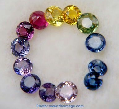 Sapphires, 9 on MOHS hardness scale, only diamond harder at 10