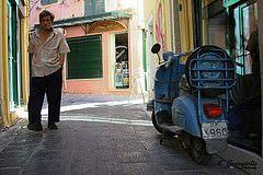 vespa (Kostas Gourgiotis (Cost@s)) Tags: street old man bike canon vespa costs corfu kerkyra kostas 450d gourgiotis