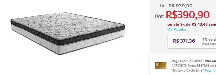 Colchão Queen Ortobom Physical com Pillow Top e Molas Super Pocket 24x158x198 cm << R$ 34990 >>