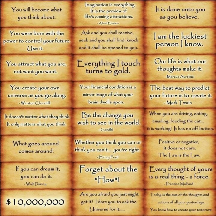 •★•  Law of Attraction AFFIRMATIONS.  •★•