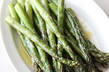 Roasted Asparagus with Miso Lime Dressing — Punchfork