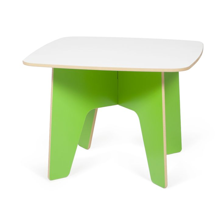 What a fun green Kids table! It's sized just right for kids age 3-8, is easy washable, and collapsible for storage.