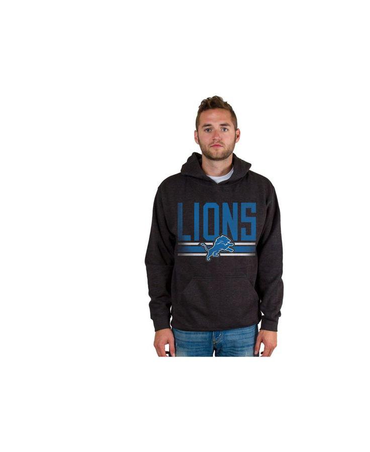 Authentic Nfl Apparel Men's Detroit Lions Ice Cold Hoodie
