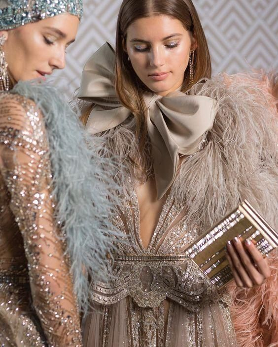 Favourites from the glitzy 1920s inspired Elie Saab 2018 Couture collection.       …