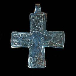 A VIKING SILVER CRUCIFIX  circa 10th-11th century AD...Viking influences  on Ireland.