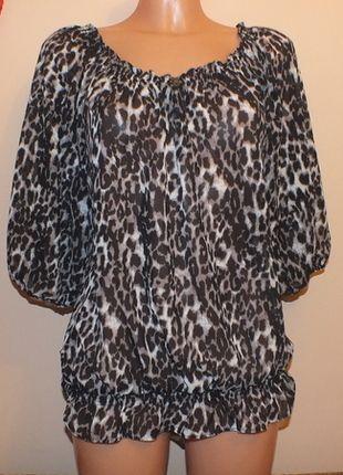 Kup mój przedmiot na #vintedpl http://www.vinted.pl/damska-odziez/bluzki-z-krotkimi-rekawami/12052480-bluzeczka-w-panterke-tu-nowa-z-metka-12-l-40