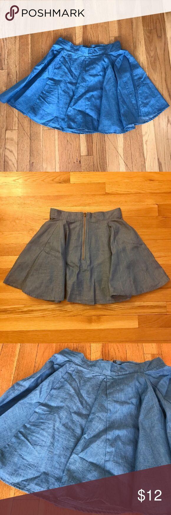 Denim Skater Skirt Cute high waisted denim Skater Skirt perfect condition Urban Outfitters Skirts Mini