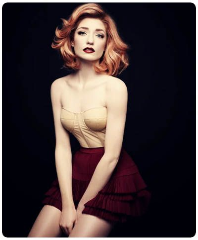 Nicola Roberts.  I find her so inspirational, and not afraid to be who she is.