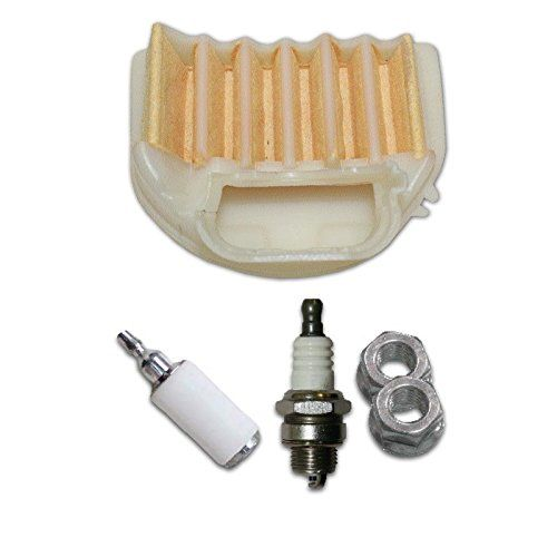 Chainsaw Tune Up Kit Filters For Husqvarna Models 455 460 537255703:    Chainsaw Tune Up Kit/p  Replaces 537255703/p  For/p  Husqvarna/p  455/p  455E/p  455 Rancher/p  460 Rancher/p  Chainsaw Tune-Up Kit Includes: /p Air Filter Fuel Filter Spark Plug Bar Stud Nuts