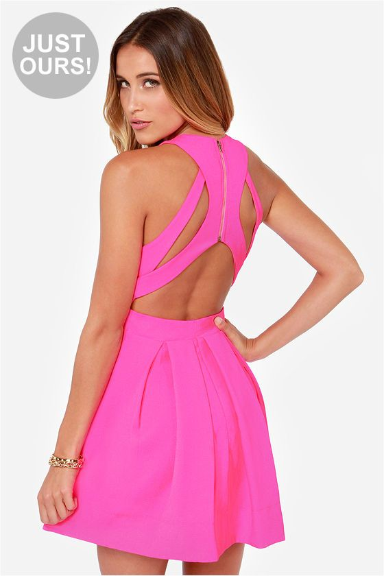 LULUS Exclusive Test Drive Neon Pink Dress at LuLus.com!So perfect for Vegas!!!