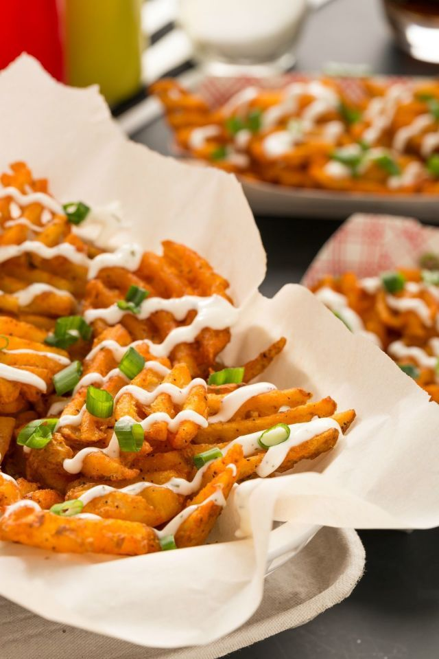 Buffalo-Ranch Waffle Fries Are Exactly What's Missing from Your Game Day Spread