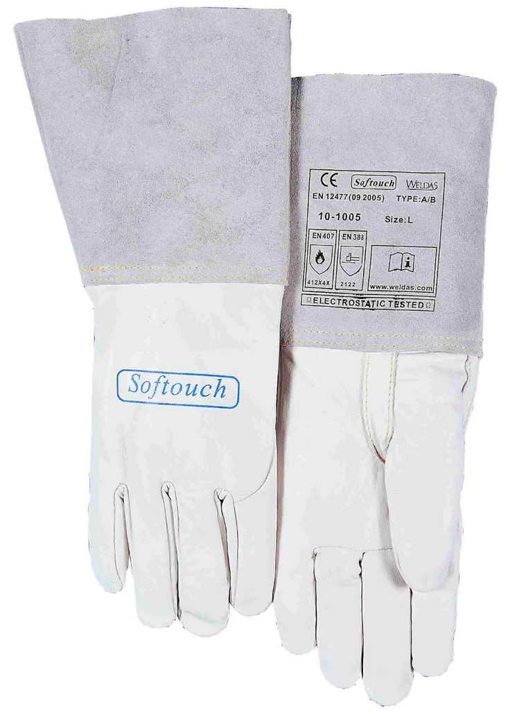 promo leather work glove tig mig welding gloves leather driver safety gloves grain goat leather tig mig #welding #gloves