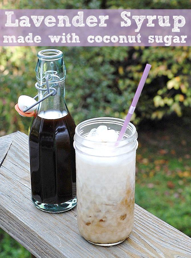 Lavender Coffee Syrup made with Coconut Sugar #vegan #rootforveggies