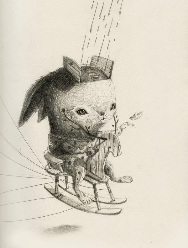 KINCY'S STORY by Roby Dwi Antono, via Behance: Antono Especificidad, Hujan Dahulu, Indonesian Artists, Illustrations Addiction, Artsy Fartsi, Dwi Antono, Robi Dwi, Musim Hujan, Artists Robi