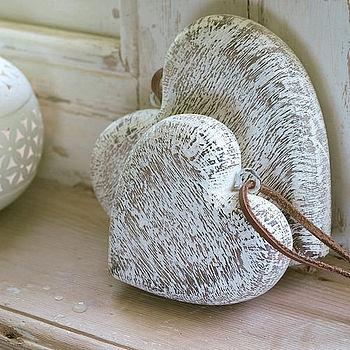 Wooden Heart Decoration  by Nkuku