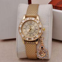 5-colores Envío gratis 2016 Nueva Venta Caliente Cisne colgante de la manera señoras del reloj de diamantes relojes para las mujeres viste al por mayor W196(China (Mainland))