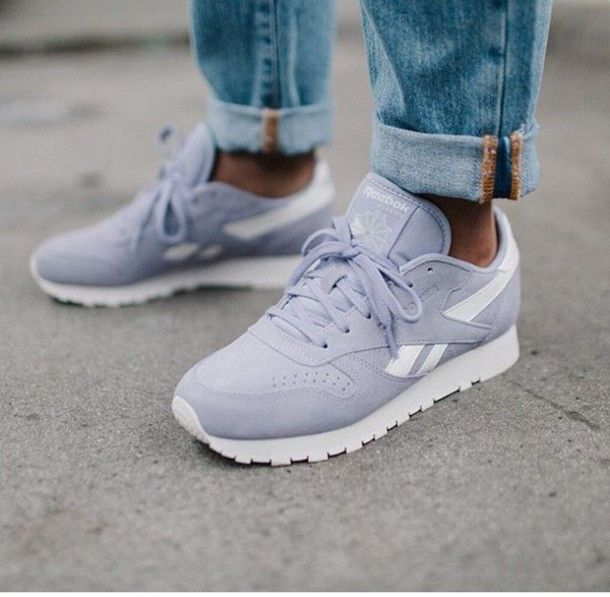 Shoes: pastel sneakers reebok lilac unisex