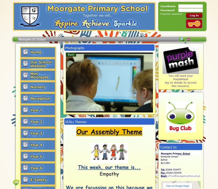 Moorgate Primary School's site really feels like an online version of their school!