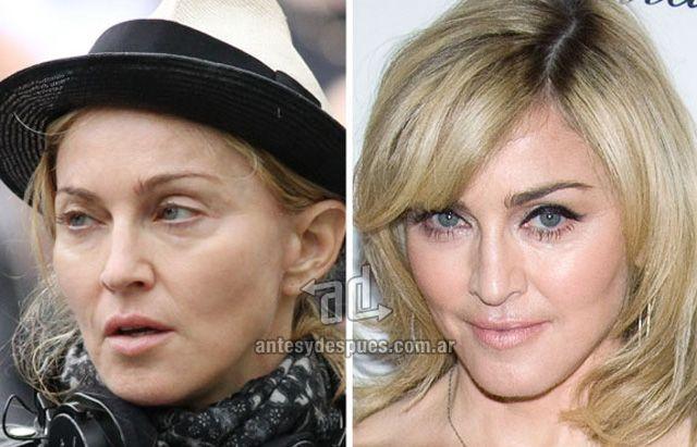Madonna sin maquillaje
