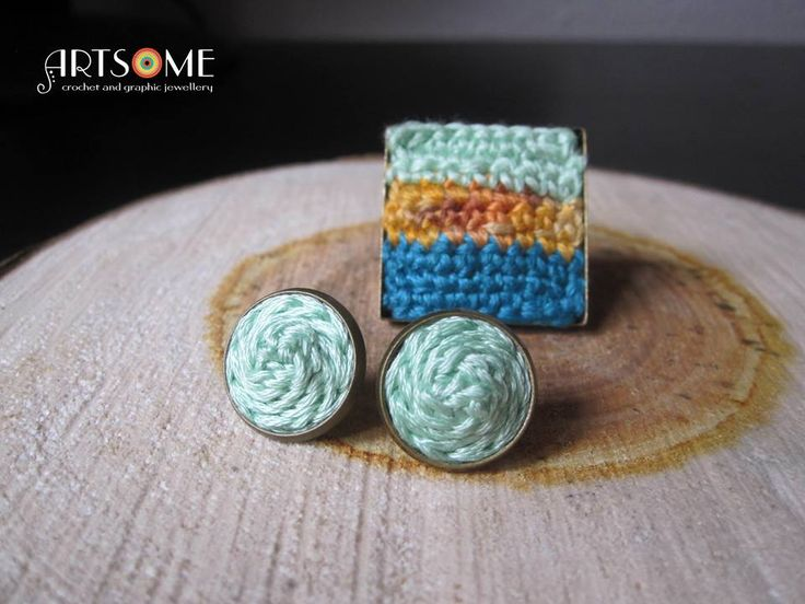 #crochet #jewellery #ring #earrings #set #jewelryset #bohochic #trendy #squarering