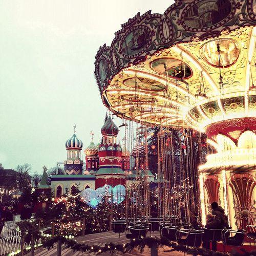 """#Tivoli in #Copenhagen at Christmas time Photo: """"Camera phone goes to Tivoli"""" by Agnieszka via Flickr"""