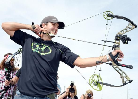 Luke Bryan Hosts ACM & Cabela's Great Outdoors Archery Event at #Orleans Hotel & Casino in Las Vegas on April 6, 2013