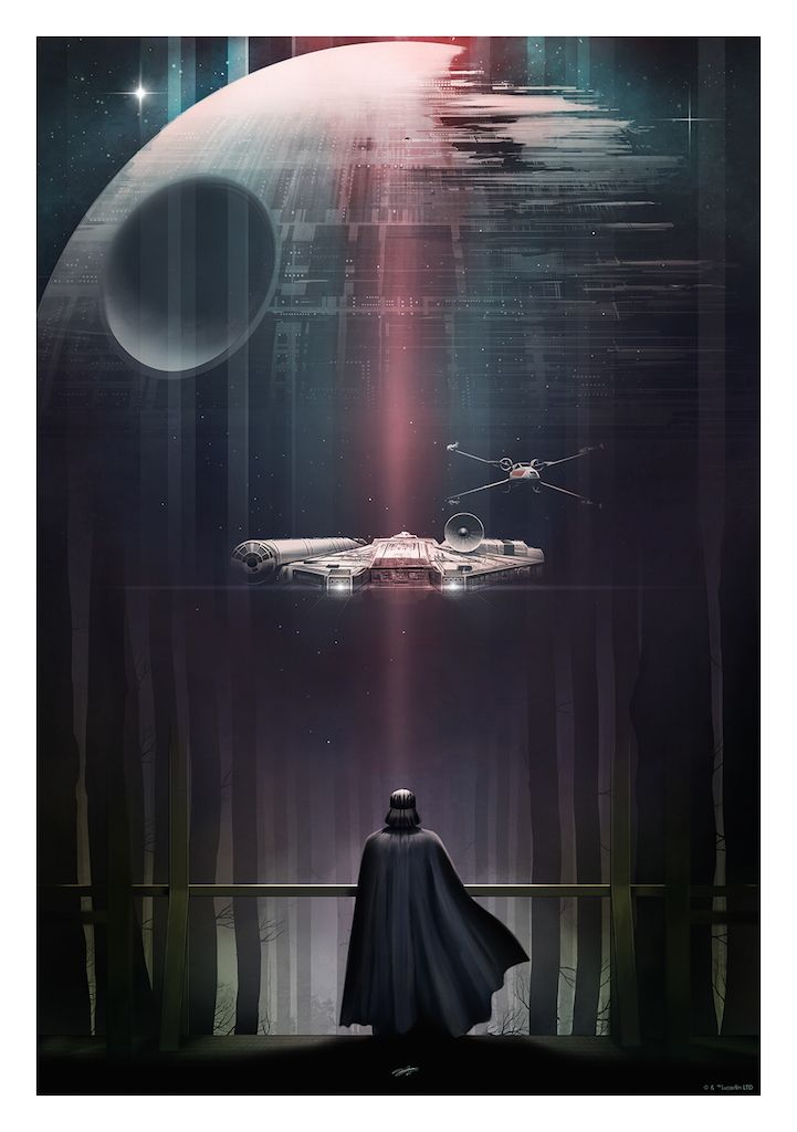 Gorgeous Star Wars trilogy #posters by Andy Fairhurst. #StarWars