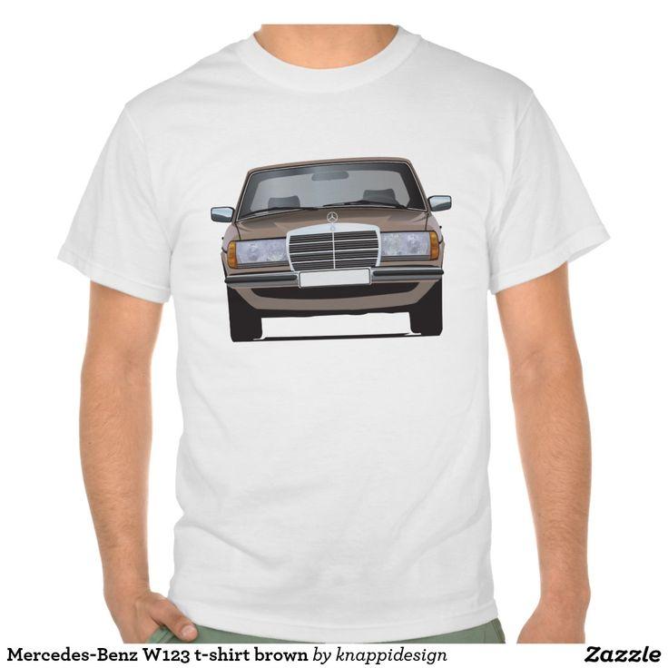 Mercedes-Benz W123 t-shirt brown  #mercedesbenz #mercedes #mercedes-benz #123 #tshirt #tshirts #tpaita #troja #germany #classics #zazzle