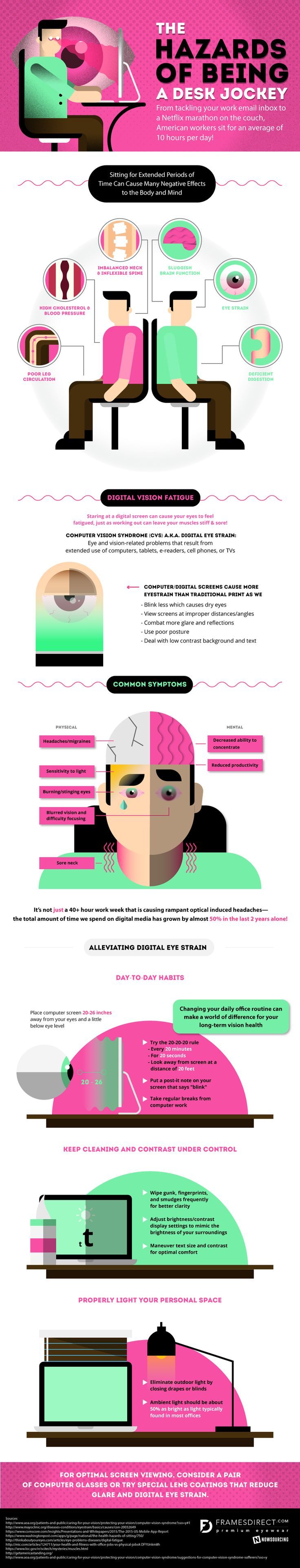 How Is Being A Desk Jockey Damaging Your Mind And Body? What Can You Do About It? #infographic