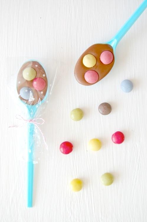 Cucharas de chocolate para regalar o para un desayuno especial