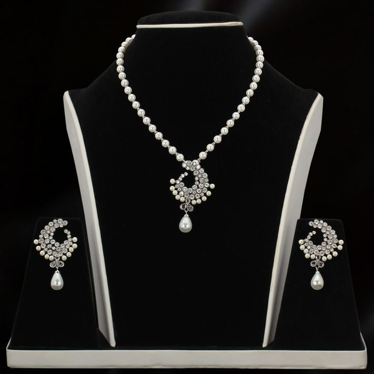 Simple Trendy Pearl Jewellery Set