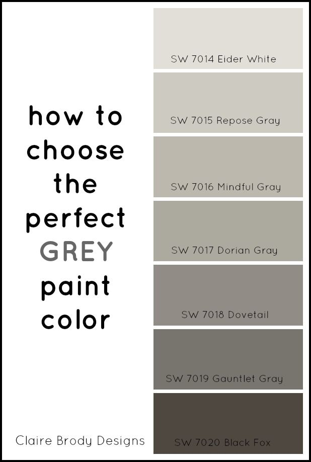 How To Choose The Perfect Grey Paint Color Claire Brody Pinterest Colors And