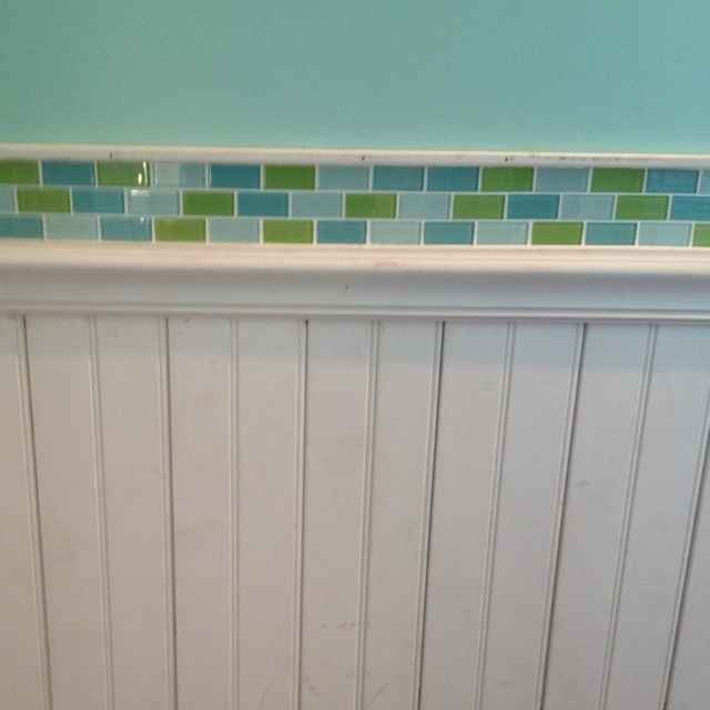 Children S Bath Bead Board With Glass Tile Accent