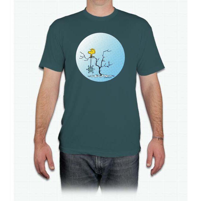 Snowflake Woodstock Charlie Brown - Men T-Shirt