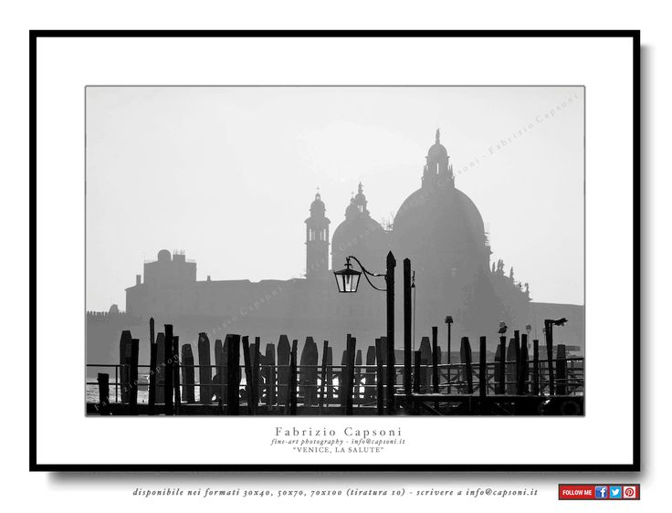 """Venice, La Salute"" ©2008 FABRIZIO CAPSONI - Fine Art Giclée Print on cotton paper - Limited edition - #fotografia #fineart #art #Interiors #homedecor"