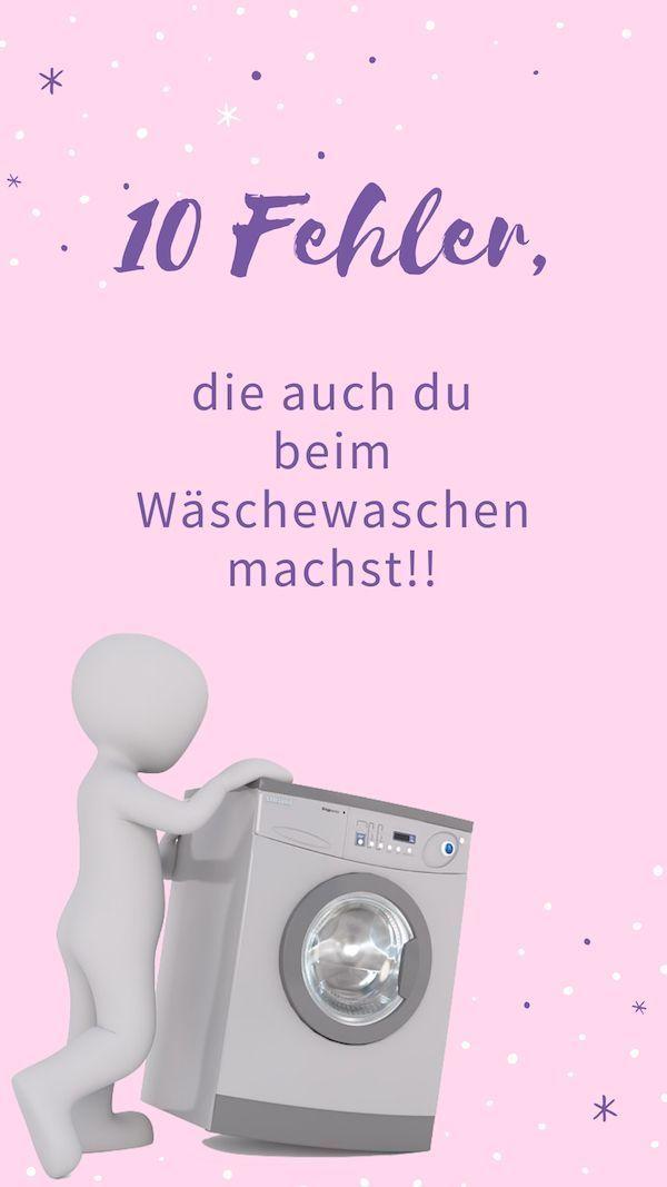 10 Fehler, die jeder beim Wäschewaschen macht