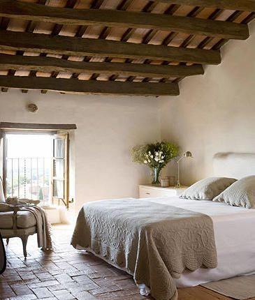 Bedroom- colors - #Tuscan #Home #Design - Find More Decor Ideas at:  http://www.IrvineHomeBlog.com/HomeDecor/  ༺༺  ℭƘ ༻༻  and Pinterest Boards   - Christina Khandan - Irvine California