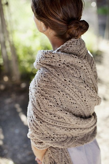 Stole/wrap for those chilly evenings around the house. Use an interesting stitch.