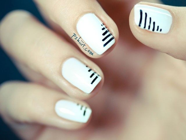 pshiiit's white #nails with black